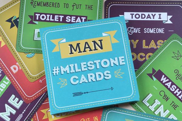 Man Milestone cards