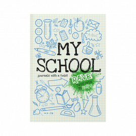 softback children's activity journal about school