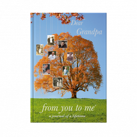 guided memory journal for Grandpa tree by from you to me