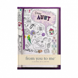 guided memory journal for Aunt sketch by from you to me