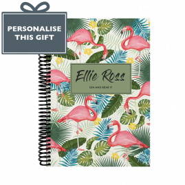 Personalised 2018 Combined Diary And Notebook Flamingo
