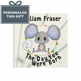 The Day You Were Born baby's arrival book pink mouse cover