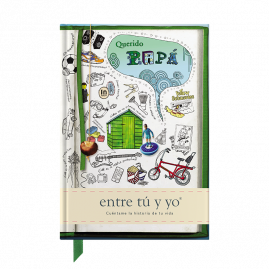 Querido Papá Spanish hardback guided memory journal