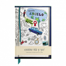 Querido Abuelo Spanish hardback guided memory journal