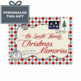 Personalised Family Christmas hardback memory book by from you to me