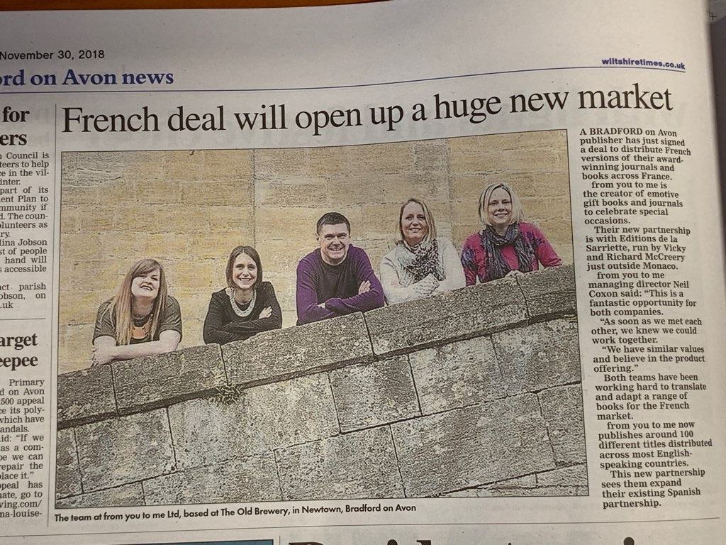 Wiltshire Times article on French Partnership